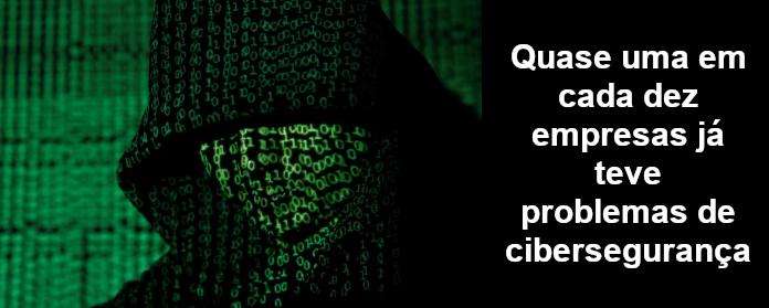 Quase uma em cada dez empresas já teve problemas de cibersegurança