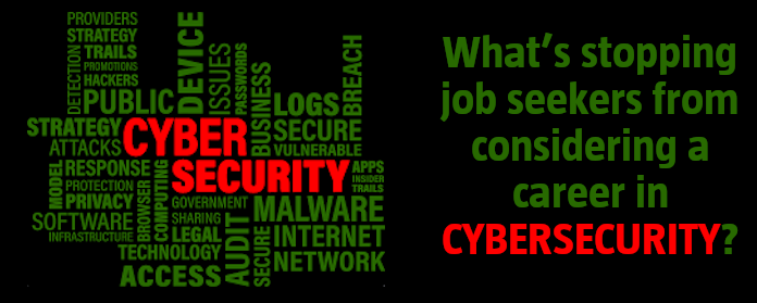 What's stopping job seekers from considering a career in cybersecurity?