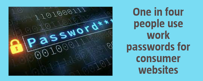 One in four people use work passwords for consumer websites
