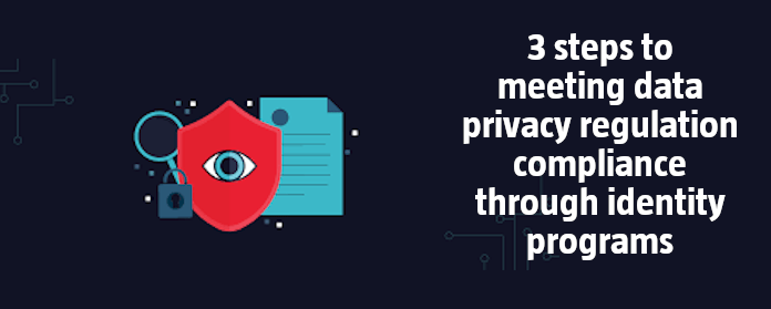 3 steps to meeting data privacy regulation compliance through identity programs
