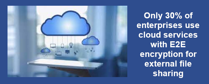 Only 30% of enterprises use cloud services with E2E encryption for external file sharing