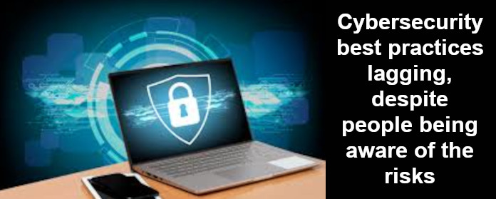 Cybersecurity best practices lagging, despite people being aware of the risks